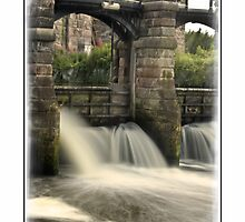 Hunt's Locks Sluice Northwich Cheshire by DavidWHughes