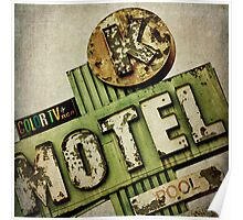 Circle K Motel Vintage Sign Poster