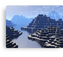 Mysterious Terraced Mountains Canvas Print
