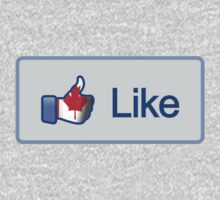Like Button (Facebook) Canada Flag by vincepro76