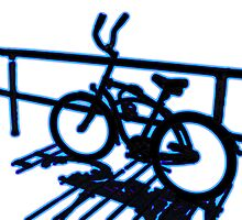 Boardwalk Bicycle Blue by GalleryThree