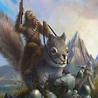 Chewbacca riding a squirrel by JacksonSam