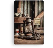 Old Vintage Rustic Lantern Canvas Print