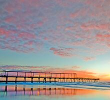 Pastel Sunrise - Gold Coast Qld Australia by Beth  Wode