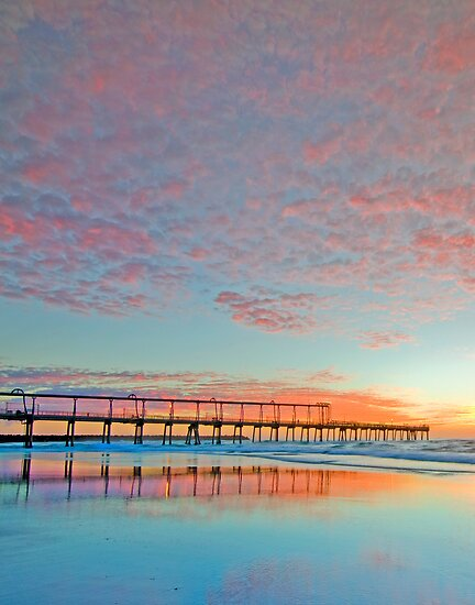 Pastel Sunrise - Gold Coast Qld Australia by Beth  Wode