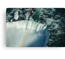 Flying Over Icy Niagara Falls Canvas Print