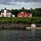 Raspberry Island Lighthouse by Kathy Weaver