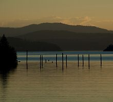 Coeur d'Alene lake at dusk (3) by Nick Dale