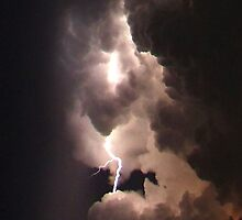 Cloud to Cloud Lightning Bolt by Zzenco