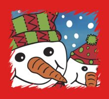 Pair of Cute Snowmen by himmstudios