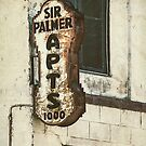 Sir Palmer Rusty Vintage Sign by Honey Malek