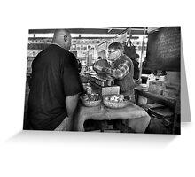 City - South Street Seaport - New Amsterdam Market - Apples & Mustard Greeting Card