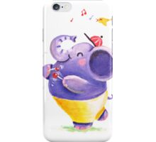 Drummer - Rondy the Elephant using his belly like a drum iPhone Case/Skin