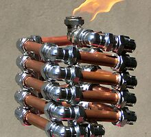 Copper and Chrome Slinki Tiki Torch - FredPereiraStudios.com_Page_14 by Fred Pereira