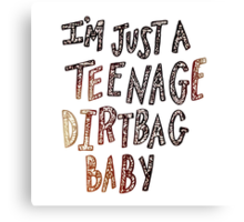Teenage Dirtbag Canvas Print