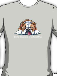 Being Adorable Bulldog Pink T-Shirt