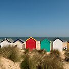 Colorful Beach Huts by printscapes
