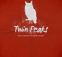 Twin Peaks minimalist print no 2 by OurBrokenHouse