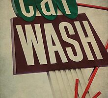 Vintage Car Wash Sign  by Honey Malek