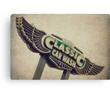 Flying Wings Classic Car Wash Sign Canvas Print
