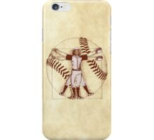 Vitruvian Baseball Player (Natural Tones) iPhone Case/Skin