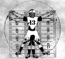 Vitruvian Football Player (B&W Tones) by KAMonkey