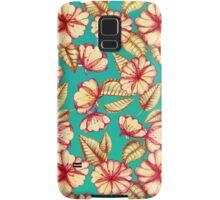 Rust & Teal Floral Pattern Samsung Galaxy Case/Skin