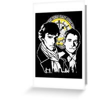 John and Sherlock Greeting Card