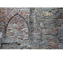 Medieval church now part of wall. Oslo old town. Photographic Print