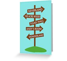 Direction Sign to Disney's Fictional Locales Greeting Card