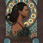 Martha Jones art nouveau , Doctor Who , TARDIS by koroa
