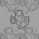 Gallifreyan Omnishambles (Black Print) by phantomssiren