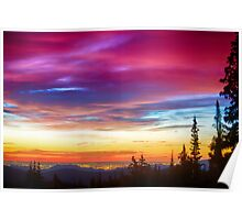 City Lights Sunrise View From Rollins Pass Poster