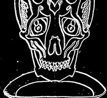 Sad skull in Black and white by Christian Howard