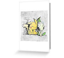 Pokemon 4ever: Pikachu & Celebi Greeting Card