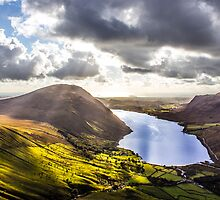 Wastwater from Scafell Pike, Cumbria by Paul Madden