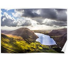 Wastwater from Scafell Pike, Cumbria Poster