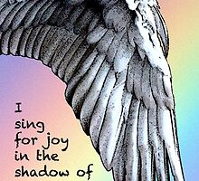 Sing For Joy Under Your Wings Rainbow Card by MyArtefacts