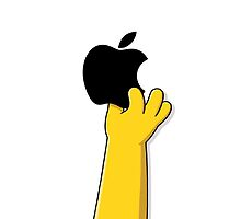 Homer Simpson is in love with iPhone by alish