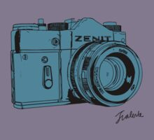 Blueish Russian Camera by jthing