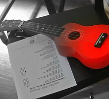 Red Ukelele by Debra Kurs