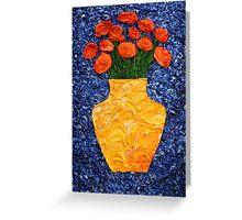 Orange Flower Bouquet Greeting Card
