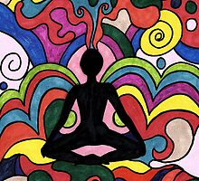 Setting Yoga Pose by Deb Coats