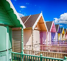 Pastel Beach Huts 3 by Chris Thaxter