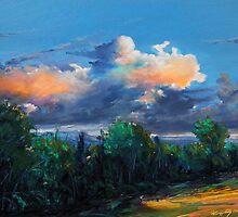Irish sky II by Roman Burgan