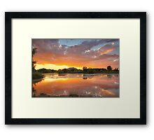 Sunset Surround 2 Framed Print