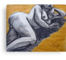 Sunbathing Nude 2 Canvas Print