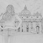 Woman at St. Peter's by Matan Chaffee