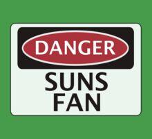 DANGER SUNS FAN FAKE FUNNY SAFETY SIGN SIGNAGE by DangerSigns