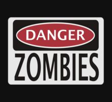 DANGER ZOMBIES FUNNY FAKE SAFETY SIGN SIGNAGE by DangerSigns